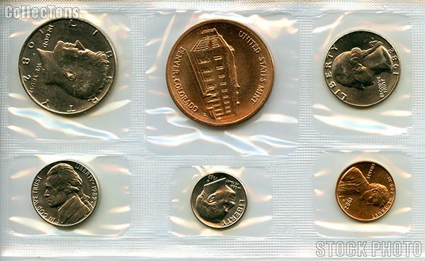 1982 Denver Mint Souvenir Set - All Original 5 Coins and Medallion from the U.S. Mint