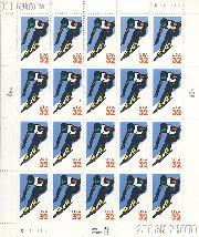 1998 Alpine Skiing 32 Cent US Postage Stamp MNH Sheet of 20 Scott #3180