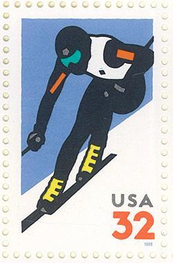 1998 Alpine Skiing 32 Cent US Postage Stamp MNH Sheet of 20 Scott #3180