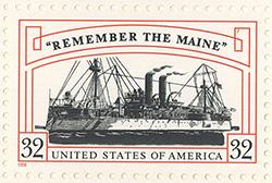 """1998 """"Remember the Maine"""" 32 Cent US Postage Stamp MNH Sheet of 20 Scott #3192"""