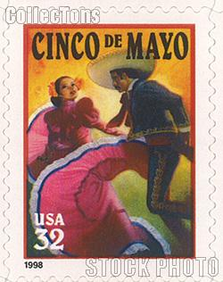 1998 Cinco De Mayo 32 Cent US Postage Stamp Unused Sheet of 20 Scott #3203