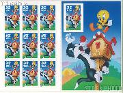 1998 Sylvester & Tweety 32 Cent US Postage Stamp Unused Sheet of 10 Scott #3204