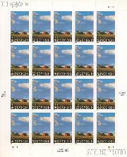 1998 Wisconsin Statehood 32 Cent US Postage Stamp Unused Sheet of 20 Scott #3206