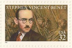 1998 Literary Arts Series - Stephen Vincent Benet 32 Cent US Postage Stamp MNH Sheet of 20 Scott #3221