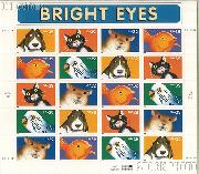 1998 Bright Eyes 32 Cent US Postage Stamp Unused Sheet of 20 Scott #3230-#3234