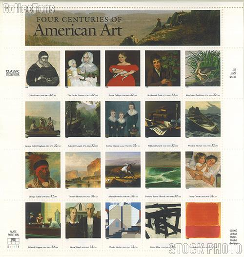 1998 American Art 32 Cent US Postage Stamp MNH Sheet of 20 Scott #3236