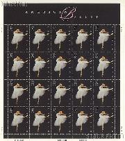 1998 American Ballet 32 Cent US Postage Stamp MNH Sheet of 20 Scott #3237