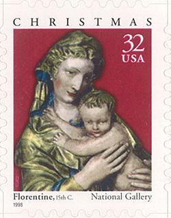 1998 Christmas - Madonna and Child 32 Cent US Postage Stamp Unused Booklet of 20 Scott #3244