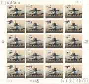 1998 Piggyback Space Shuttle $11.75 US Postage Stamp Unused Sheet of 20 Scott #3262