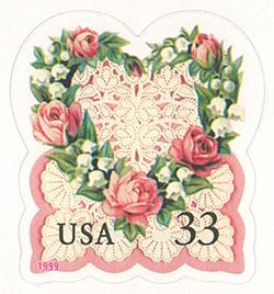 1999 Love 33 Cent US Postage Stamp Unused Booklet of 20 Scott #3274A
