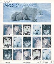 1999 Arctic Animals 33 Cent US Postage Stamp MNH Sheet of 15 Scott #3288-#3292