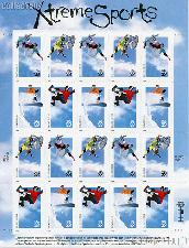 1999 Xtreme Sports 33 Cent US Postage Stamp Unused Sheet of 20 Scott #3321-#3324