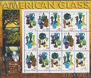 1999 American Glass 33 Cent US Postage Stamp MNH Sheet of 15 Scott #3325-#3328