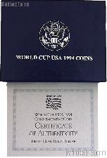 1994 World Cup Tournament Commemorative PROOF Half Dollar OGP Replacement Box and COA