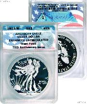 CollecTons Keepers #22: 2013-W American Eagle Silver Dollar Certified in Exclusive ANACS Enhanced Uncirculated Holder