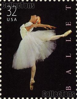 1998 American Ballet 32 Cent US Postage Stamp MNH Sheet of 20 Scott #3237