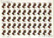 1994 Stocking - Christmas Series 29 Cent US Postage Stamp MNH Sheet of 50 Scott #2872