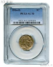 1914-D Buffalo Nickel in PCGS AU 50