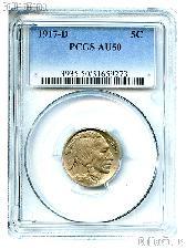 1917-D Buffalo Nickel in PCGS AU 50