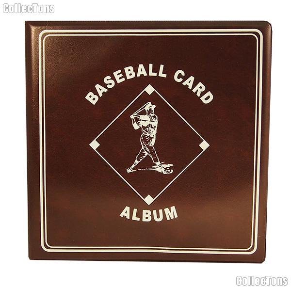 Baseball Card Album by BCW 3 Ring Trading Card Album in Burgundy
