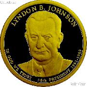 2015-S Lyndon B. Johnson Presidential Dollar GEM PROOF Coin