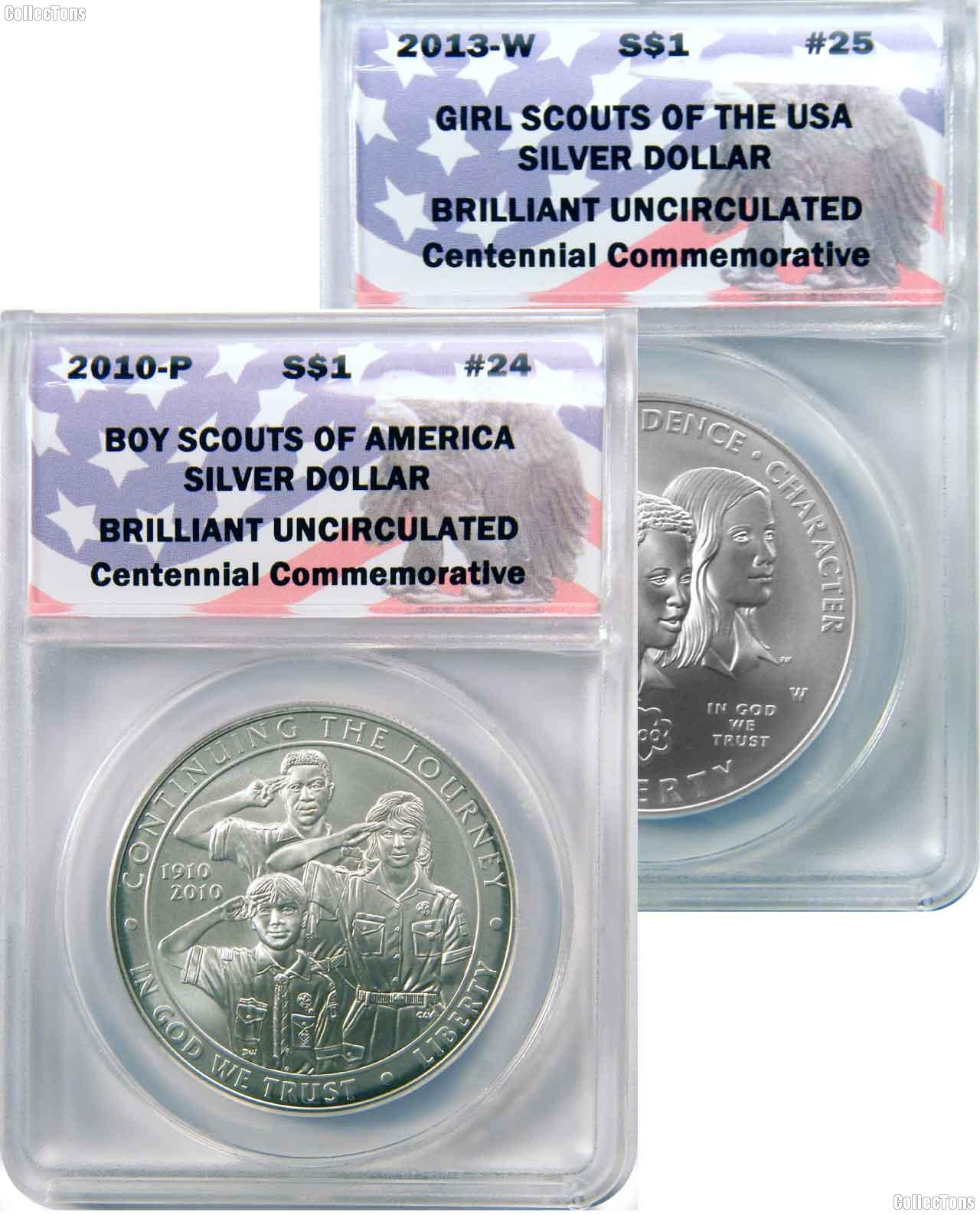 CollecTons Keepers #24 & #25: Boy Scout & Girl Scout Centennial Silver Dollars