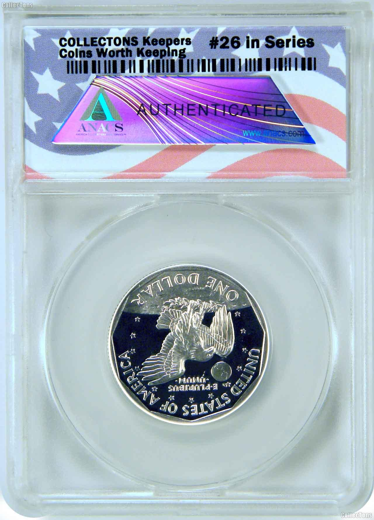 CollecTons Keepers #26: 1999-P Proof Susan B. Anthony Dollar Certified in Exclusive ANACS Holder