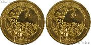 2015 P & D Native American Dollars BU 2015 Sacagawea Dollars SAC