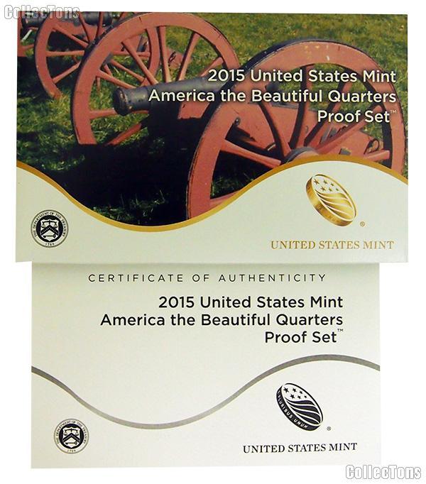 2015 U.S. Mint QUARTER Proof Set OGP Replacement Box and COA