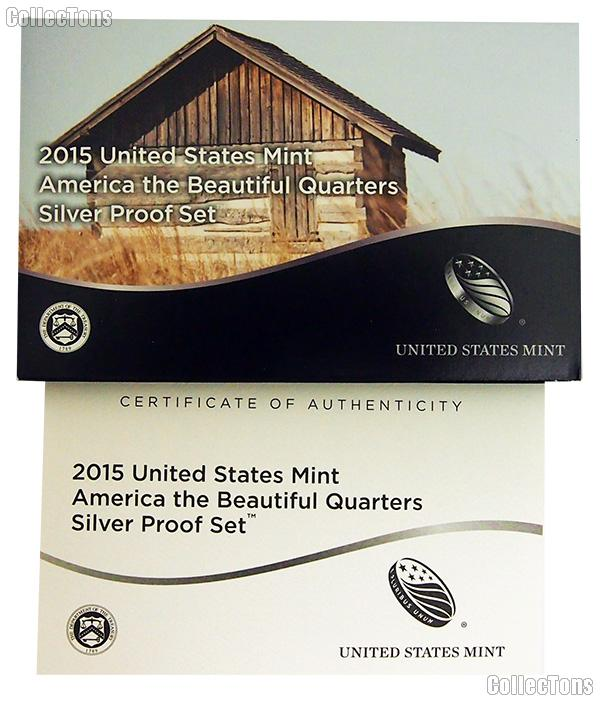 2015 SILVER QUARTER PROOF SET OGP Replacement Box and COA