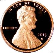 2015-S Lincoln Shield Cent * PROOF Lincoln Union Shield Penny