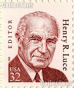 1998 Henry R. Luce - Great American Series 32 Cent US Postage Stamp MNH Sheet of 20 Scott #2935