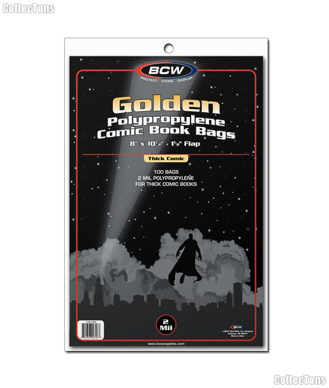 Golden Age Comic Book Thick Bags Polypropylene - Pack of 100 by BCW