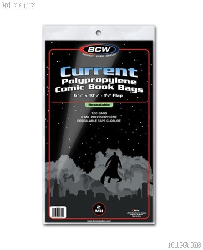 Current Age Comic Book Resealable Bags Polypropylene - Pack of 100 by BCW