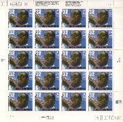 1995 Louis Armstrong - American Music Series 32 Cent US Postage Stamp MNH Sheet of 20 Scott #2982
