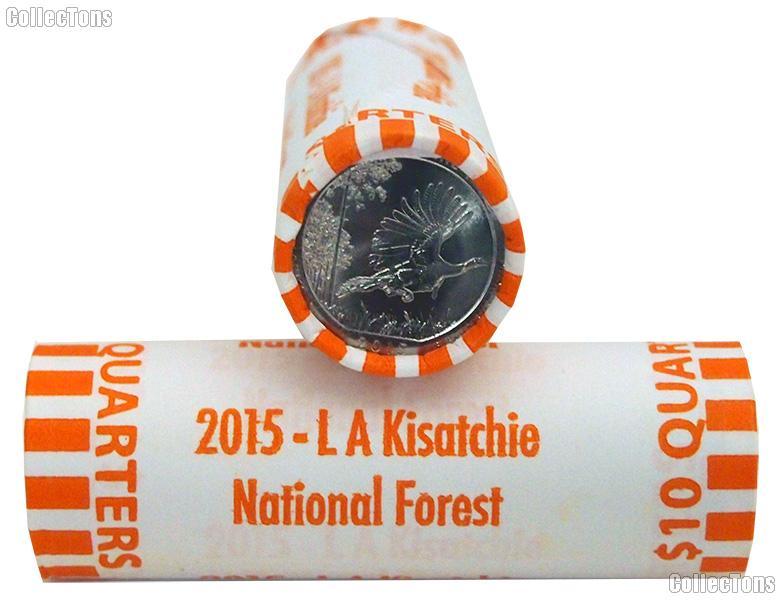 2015 P & D Louisiana Kisatchie National Forest National Park Quarter Bank Wrapped Rolls 80 Coins GEM BU