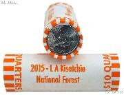 2015 P & D Louisiana Kisatchie National Forest National Park Quarter Bank Wrapped Rolls 80 Coins GEM BU