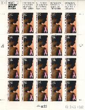 1996 Breast Cancer Awareness 32 Cent US Postage Stamp MNH Sheet of 20 Scott #3081