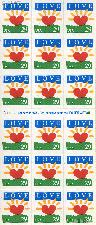 1994 Sunrise - Love Series 29 Cent US Postage Stamp Unused Booklet of 18 Scott #2813a