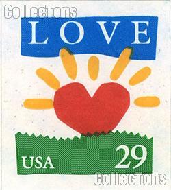 1994 Sunrise - Love Series 29 Cent US Postage Stamp Unused Booklet of 18 Scott #2813a