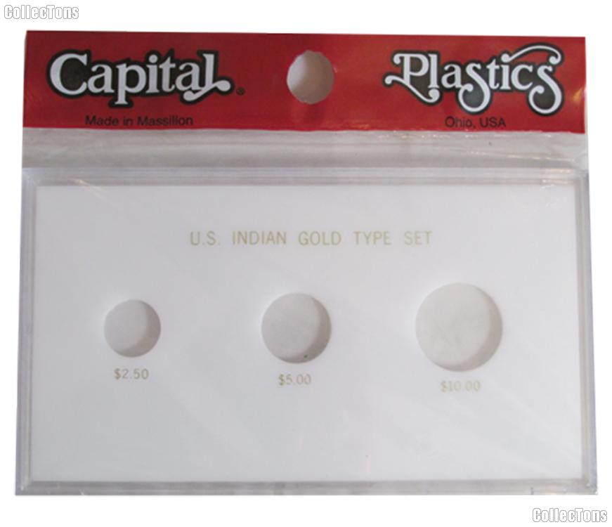 Capital Plastics 4x7 Meteor Case - US Indian Gold Type Set