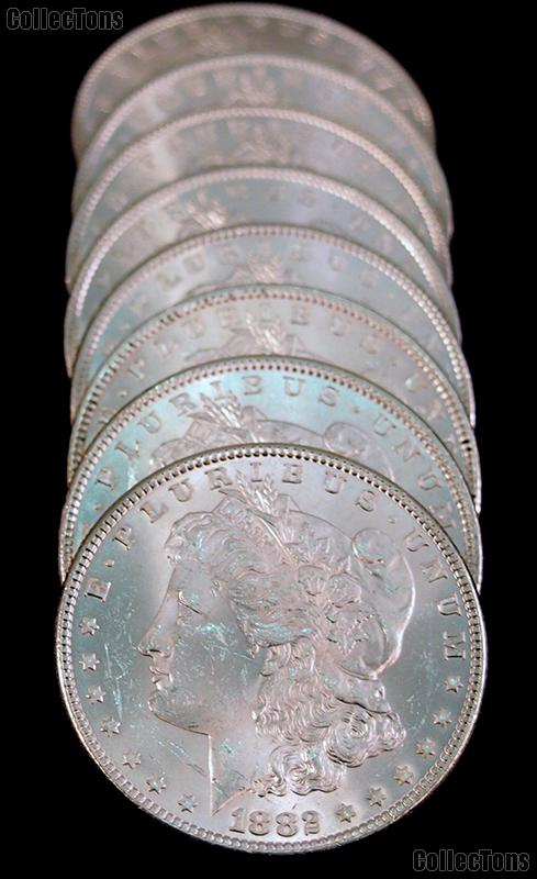 1882 BU Morgan Silver Dollars from Original Roll