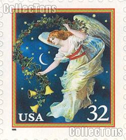 1995 Midnight Angel - Christmas Series 32 Cent US Postage Stamp Unused Booklet of 20 Scott #3012a