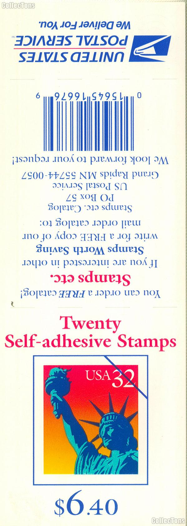 1997 Statue of Liberty 32 Cent US Postage Stamp Unused Booklet of 20 Scott #3122a
