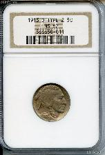 1913-D Type 2 Buffalo Nickel in NGC MS 62