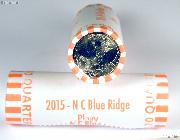2015-D North Carolina Blue Ridge Parkway National Park Quarters Bank Wrapped Roll 40 Coins GEM BU