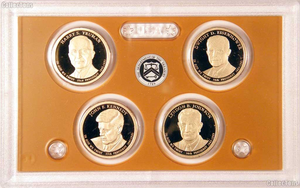 2015 U.S. Mint Presidential Dollar Proof Set - 4 Coins