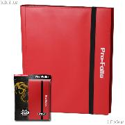 BCW Gaming PRO-FOLIO Album for 360 Cards in Red