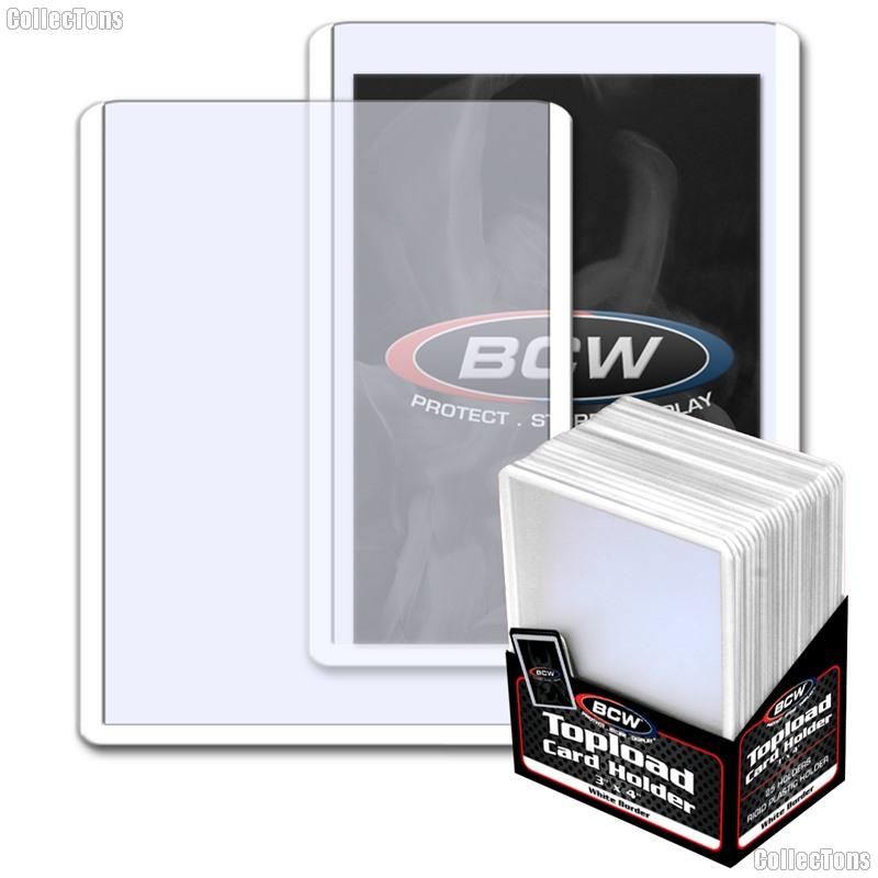 White Border Topload Card Holder 3 x 4 - Pack of 25 by BCW