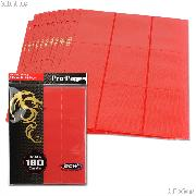 18-Pocket Side Loading Pro Pages Red by BCW Pack of 10